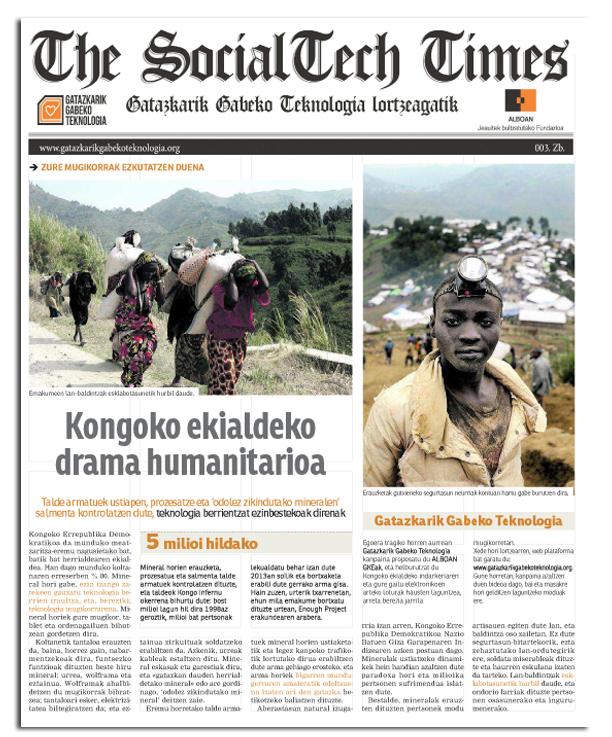 portada Social tech times numero 3 euskera