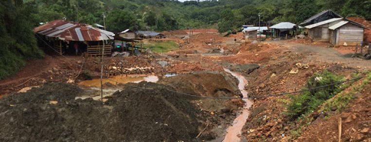 foto de minería El alacrán, Colombia
